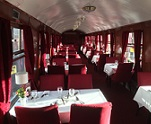 This is a Dining Train event onboard one of our heritage steam trains.  Seats are in open carriages around tables of two or three people Our onboard bar will be open serving a range of wine, beer, cider and soft drinks. Under 12's not encouraged 2 Course Pines Express Menu Mains -Our famous silverside of beef with Yorkshire puddingChicken and bacon salad with new potatoesVegetable casserole with mini cheese scones All the above served with roast potatoes, new potatoes and three seasonal vegetables Desserts -Homemade apple and raspberry pie with clotted creamTrifle and cream Tea/Coffee/Mints/Fudge