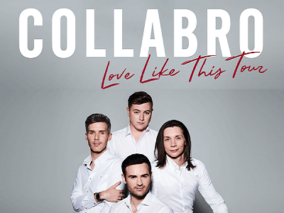 "COLLABRO – Michael Auger, Jamie Lambert, Matthew Pagan and Thomas J Redgave - are the world's most successful musical theatre group. Having met for their first rehearsal in a pub at London Bridge in 2014, they auditioned for Britain's Got Talent a month later and received a full standing ovation from both the audience and the judges after their performance.  They went on to win the competition with one of the biggest majorities ever, and their debut album 'Stars' entered the UK albums chart at number one, was quickly certified gold, and became the fastest selling album in 2014.Four sell out UK tours, two US tours, headline slots at the London Palladium, Wembley Stadium, the Royal Albert Hall, the 02 Arena and a show for Her Majesty The Queen later, COLLABRO have announced the release of their fifth album 'Love Like This' on November 15th  2019, through BMG. They will take the new album out to their fans with a full UK tour throughout October 2020.A hand picked selection of their favourite contemporary songs, Love Like This includes Coldplay's Fix You as an instant grat track (""We know that everyone thinks of something different when they hear this song and we used our voices to act as the majority of instruments to put our unique spin on it""), Keane's Somewhere Only We Know (""We sang this song on our second UK tour but it's never been on an album and we still love it now""), Ellie Goulding's Love Me Like You Do (""This is for all our fans who have been asking for a wedding song!"") and Lewis Capaldi's Someone You Loved (""When we heard Lewis sing this for the first time we were all together. We looked at each other and just knew it was a song we wanted to sing. The melody is beautiful and everyone can relate to the lyrics"")."